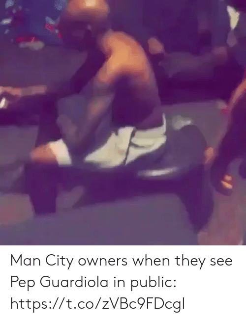 Soccer, Man City, and Pep Guardiola: Man City owners when they see Pep Guardiola in public: https://t.co/zVBc9FDcgI
