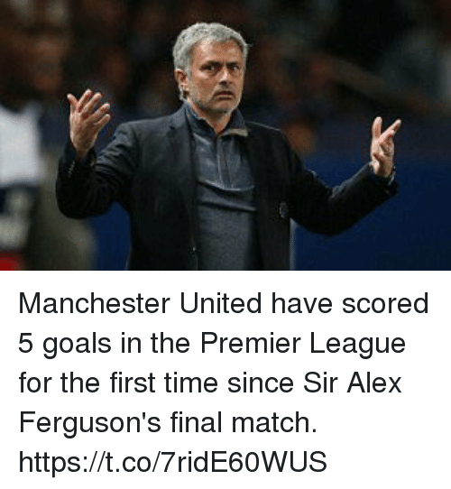 Goals, Premier League, and Soccer: Manchester United have scored 5 goals in the Premier League for the first time since Sir Alex Ferguson's final match. https://t.co/7ridE60WUS