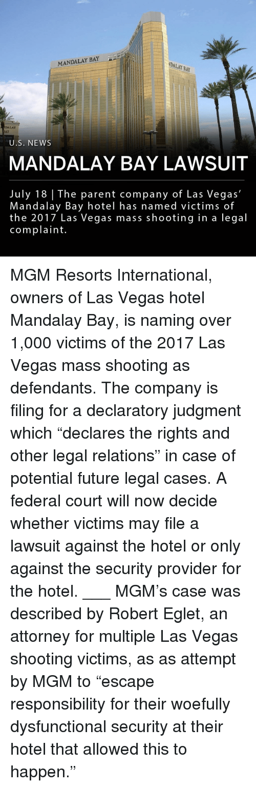 """dysfunctional: MANDALAY BAY  DALAY BAY  DALAY  AY  Rickets  375  U.S. NEWS  MANDALAY BAY LAWSUIT  July 18 