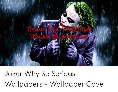 Manksteror Mctng Joker Why So Serious Wallpapers Wallpaper