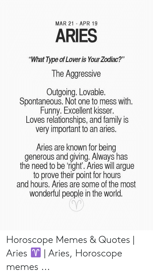 MAR 21 APR 19 ARIES What Type of Lover Is Your Zodiac? The