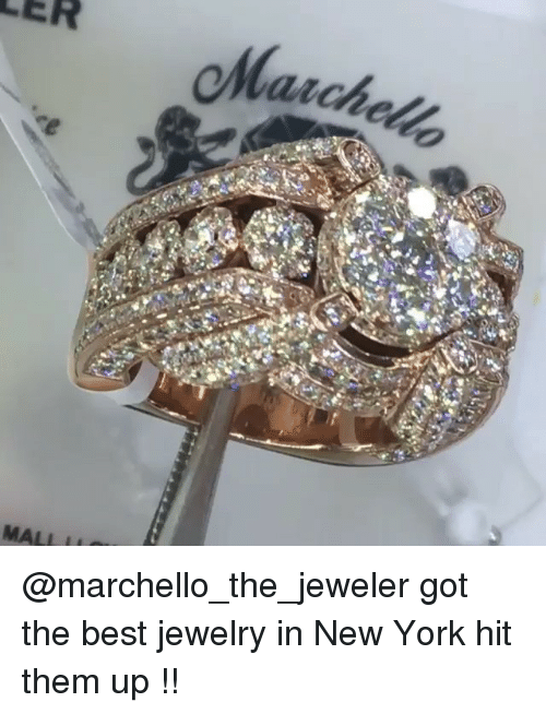 Funny, New York, and Best: @marchello_the_jeweler got the best jewelry in New York hit them up !!