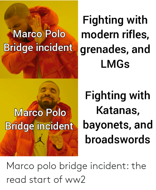 Marco: Marco polo bridge incident: the read start of ww2