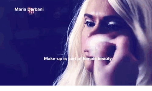 Make, Female, and Beauty: Maria Durbani  Make-up is part of female beauty