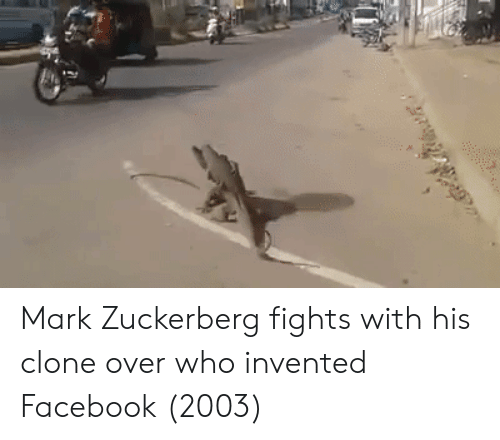 Facebook, Mark Zuckerberg, and Who: Mark Zuckerberg fights with his clone over who invented Facebook (2003)