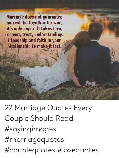 Marriage Does Not Guarantee You Will Be Together Forever ...