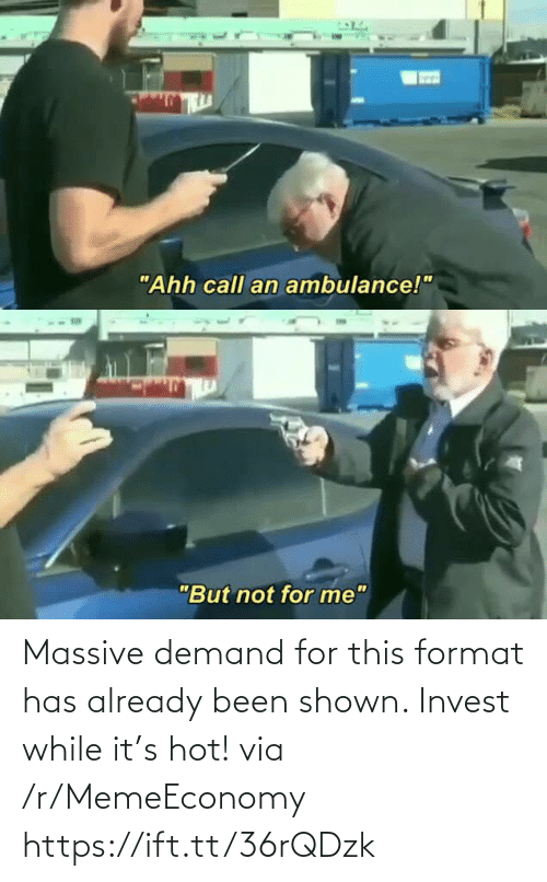 hot: Massive demand for this format has already been shown. Invest while it's hot! via /r/MemeEconomy https://ift.tt/36rQDzk