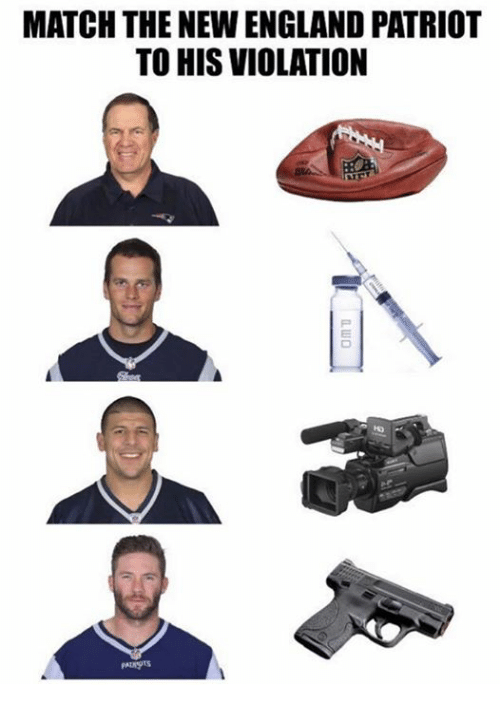 New England Patriot: MATCH THE NEW ENGLAND PATRIOT  TO HIS VIOLATION