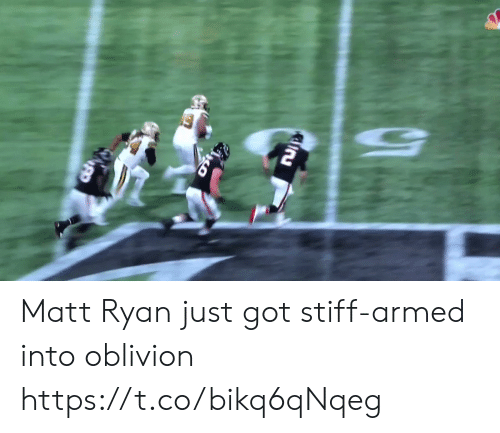 oblivion: Matt Ryan just got stiff-armed into oblivion https://t.co/bikq6qNqeg