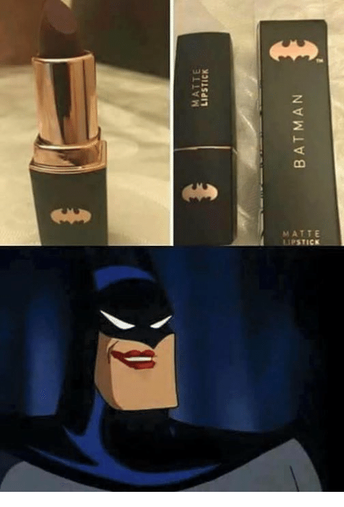 bat man: MATTE  LIPSTICK  BAT MAN