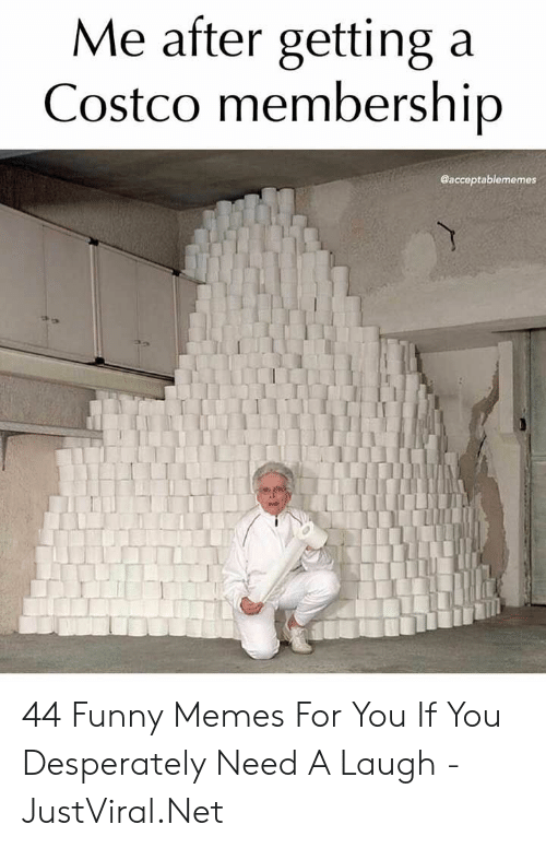 funny memes: Me after getting a  Costco membership  @acceptablememes 44 Funny Memes For You If You Desperately Need A Laugh - JustViral.Net