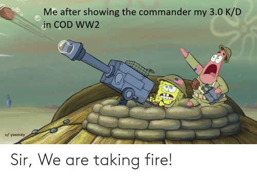 the commander: Me after showing the commander my 3.0 K/D  in COD WW2  u/ yaxxsxy Sir, We are taking fire!