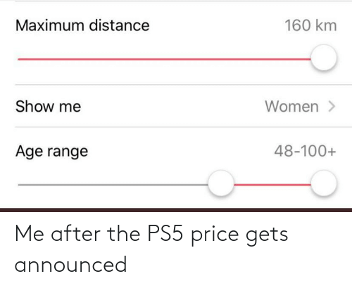 Me After: Me after the PS5 price gets announced