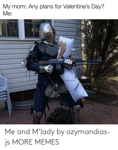 Me: Me and M'lady by ozymandias-js MORE MEMES