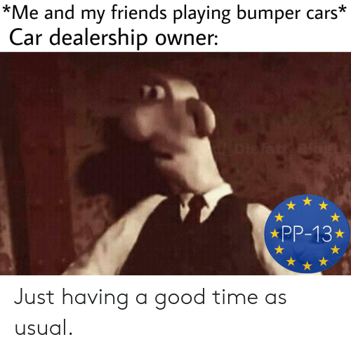 Me and My Friends Playing Bumper Cars* Car Dealership Owner