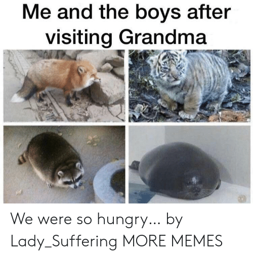 the boys: Me and the boys after  visiting Grandma We were so hungry… by Lady_Suffering MORE MEMES