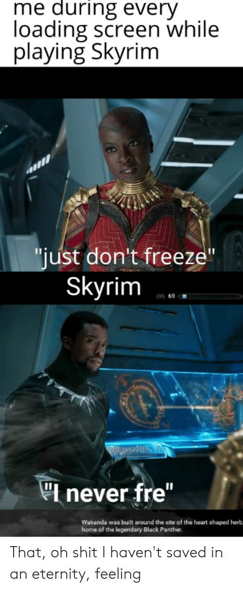 Me During Every Loading Screen While Laying Skyrim Just Don