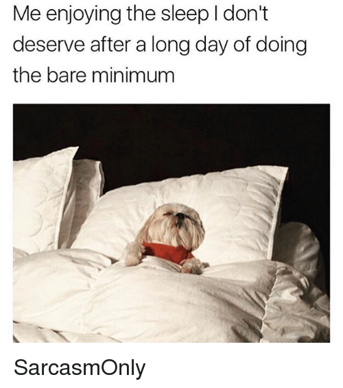 Funny, Memes, and Sleep: Me enjoying the sleep I don't  deserve after a long day of doing  the bare minimunm SarcasmOnly