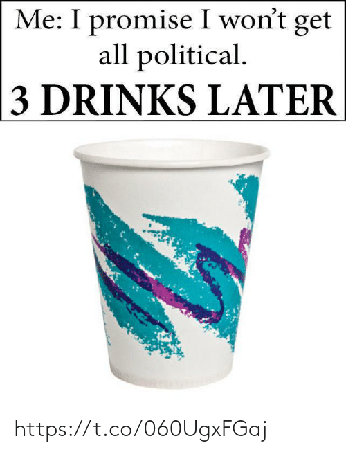 Drinks: Me: I promise I won't get  all political.  3 DRINKS LATER https://t.co/060UgxFGaj