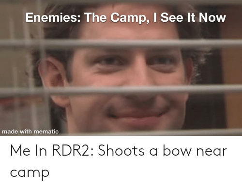 Rdr2: Me In RDR2: Shoots a bow near camp