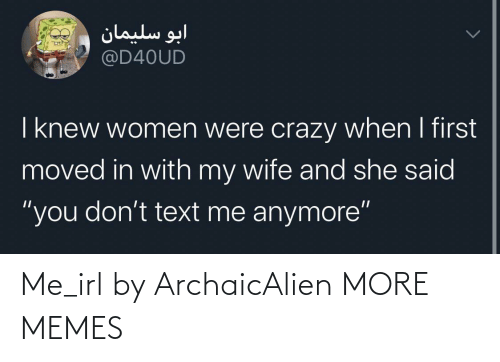 Me IRL: Me_irl by ArchaicAlien MORE MEMES