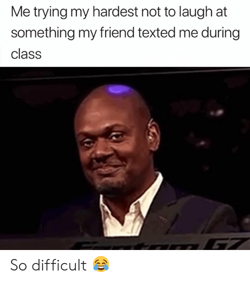 Class, Friend, and Laugh: Me trying my hardest not to laugh at  something my friend texted me during  class So difficult 😂