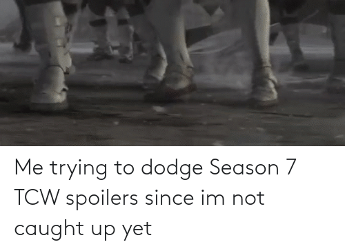 Dodge: Me trying to dodge Season 7 TCW spoilers since im not caught up yet