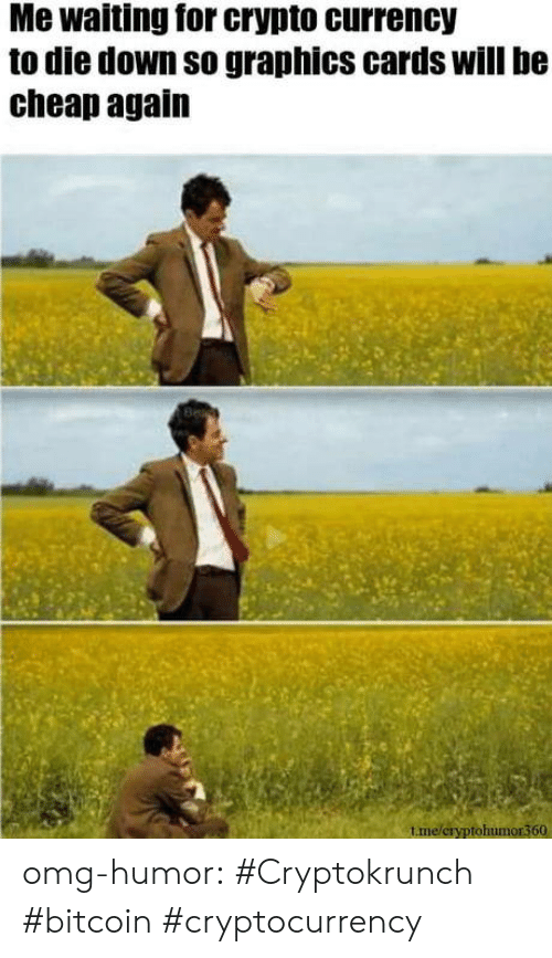 Bitcoin: Me waiting for crypto currency  to die down so graphics cards will be  cheap again  tme/cryptohumor360 omg-humor:  #Cryptokrunch #bitcoin #cryptocurrency