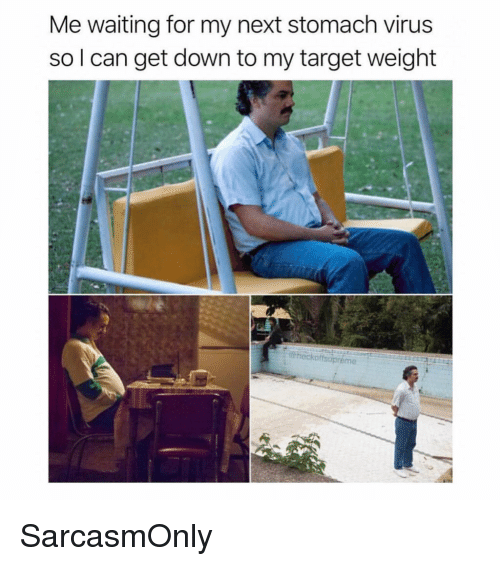 Funny, Memes, and Target: Me waiting for my next stomach virus  so l can get down to my target weight  hockoffsupreme SarcasmOnly