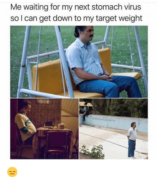 Funny, Target, and Waiting...: Me waiting for my next stomach virus  so l can get down to my target weight 😑