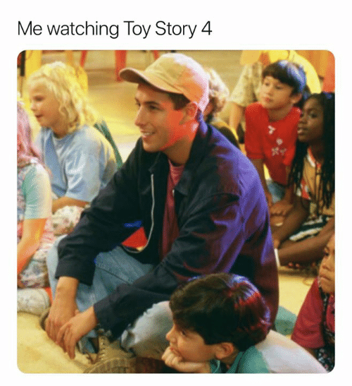 Toy Story, Toy Story 4, and Story: Me watching Toy Story 4