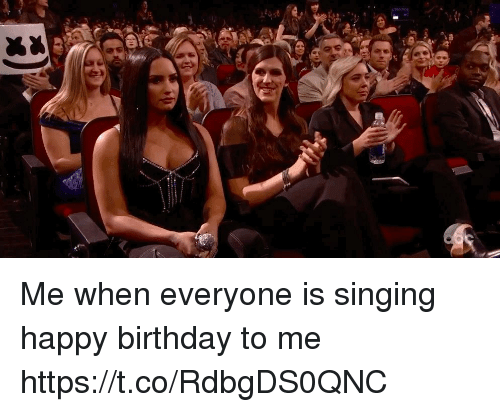Birthday, Singing, and Happy Birthday: Me when everyone is singing happy birthday to me  https://t.co/RdbgDS0QNC