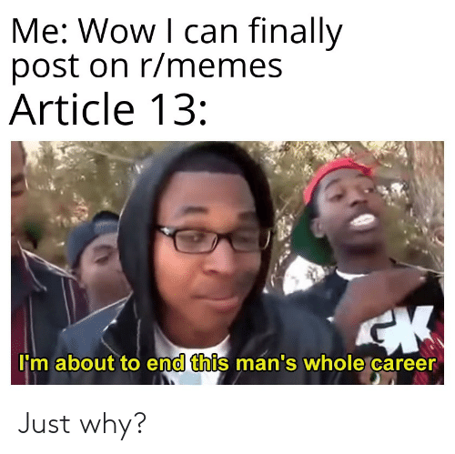 Me Wow I Can Finally Post On Rmemes Article 13 M About To End This