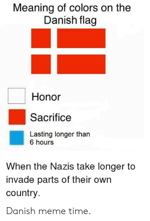 Meaning of Colors on the Danish Flag Honor Sacrifice Lasting