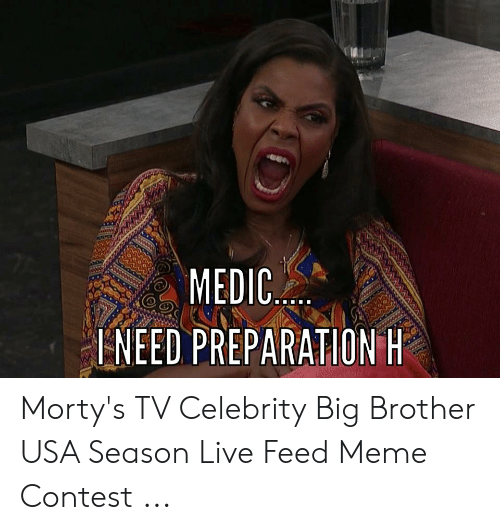 MEDIC INEED PREPARATION H Morty's TV Celebrity Big Brother