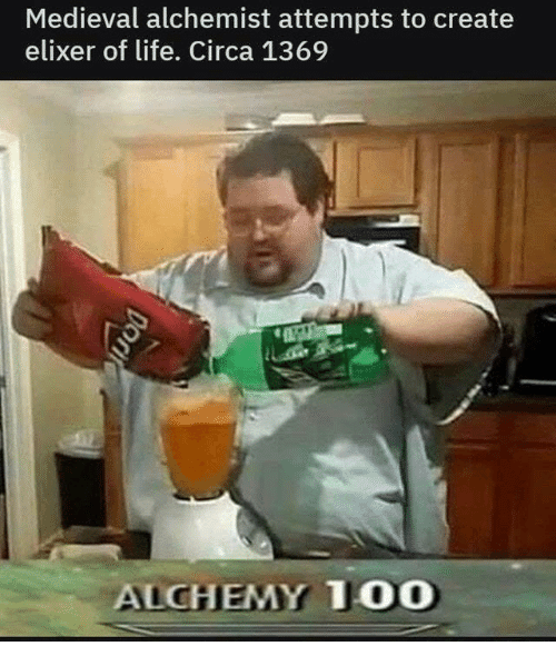 Anaconda, Life, and Medieval: Medieval alchemist attempts to create  elixer of life. Circa 1369  ALCHEMY 100