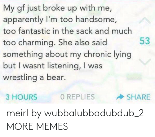 2: meirl by wubbalubbadubdub_2 MORE MEMES