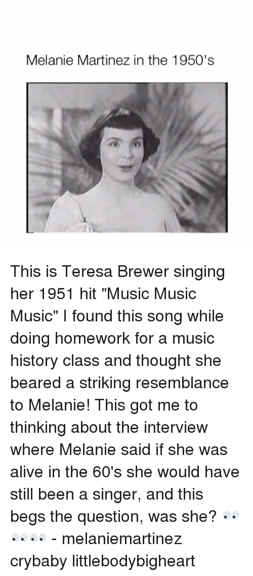 Melanie Martinez in the 1950's This Is Teresa Brewer Singing
