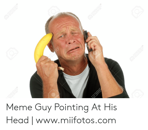 25 Best Memes About Meme Guy Pointing At His Head Meme Guy