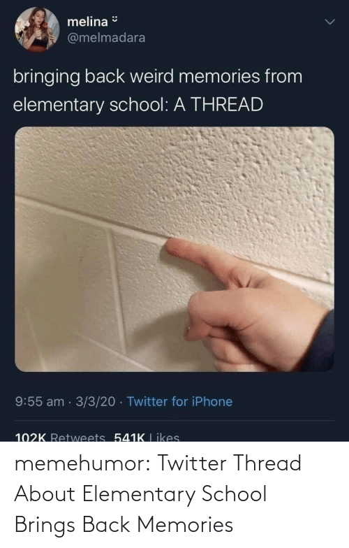Elementary: memehumor:  Twitter Thread About Elementary School Brings Back Memories