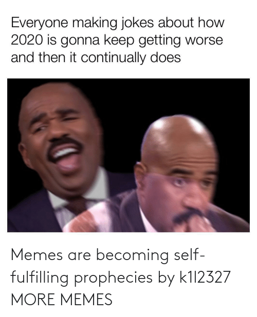self: Memes are becoming self-fulfilling prophecies by k1l2327 MORE MEMES