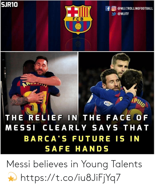 Young: Messi believes in Young Talents💫 https://t.co/iu8JiFjYq7