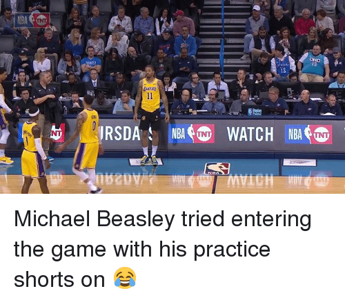 The Game, Game, and Michael: Michael Beasley tried entering the game with his practice shorts on 😂
