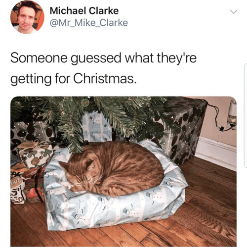 Christmas, Michael, and What: Michael Clarke  @Mr_Mike_Clarke  Someone guessed what they're  getting for Christmas.