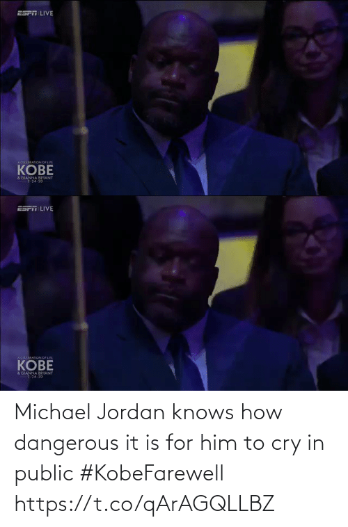 For Him: Michael Jordan knows how dangerous it is for him to cry in public #KobeFarewell https://t.co/qArAGQLLBZ