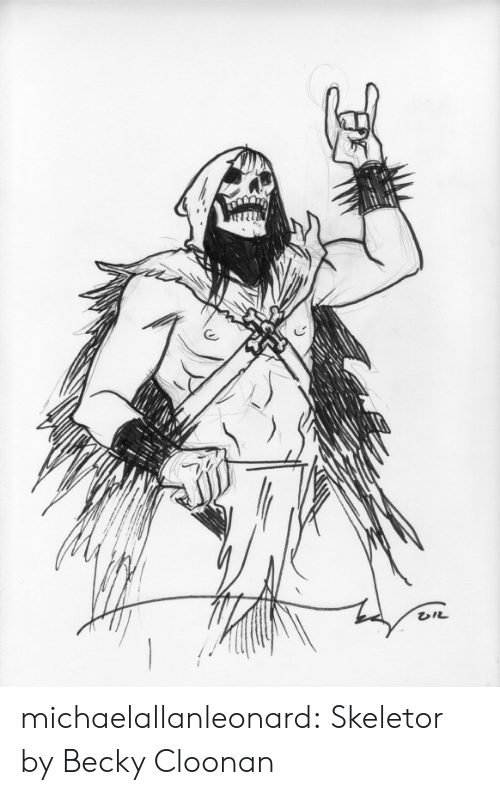 becky: michaelallanleonard:  Skeletor by Becky Cloonan