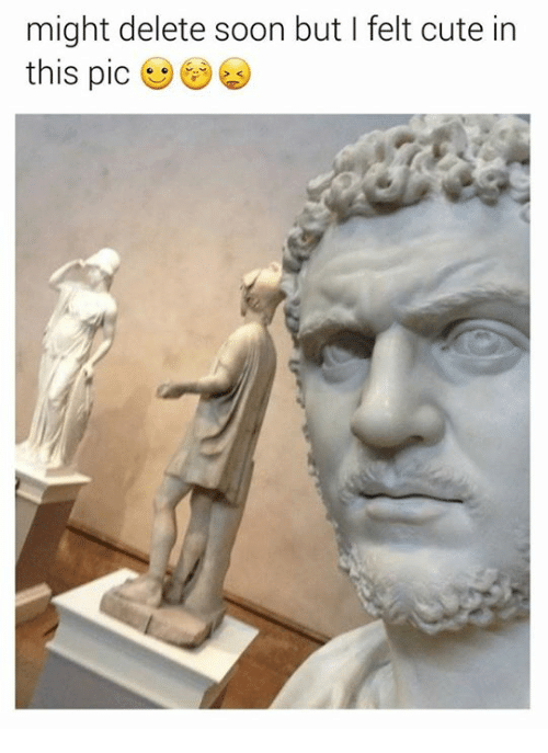 Rough Roman: might delete soon but I felt cute in  this pic