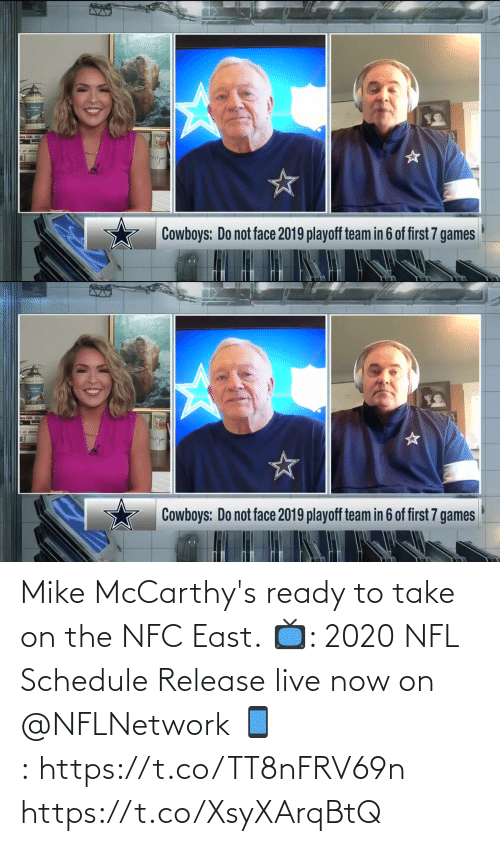 Schedule: Mike McCarthy's ready to take on the NFC East.  📺: 2020 NFL Schedule Release live now on @NFLNetwork 📱:https://t.co/TT8nFRV69n https://t.co/XsyXArqBtQ