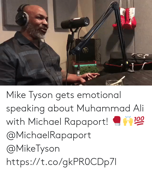 Ali, Mike Tyson, and Muhammad Ali: Mike Tyson gets emotional speaking about Muhammad Ali with Michael Rapaport! 🥊🙌💯 @MichaelRapaport @MikeTyson https://t.co/gkPR0CDp7l