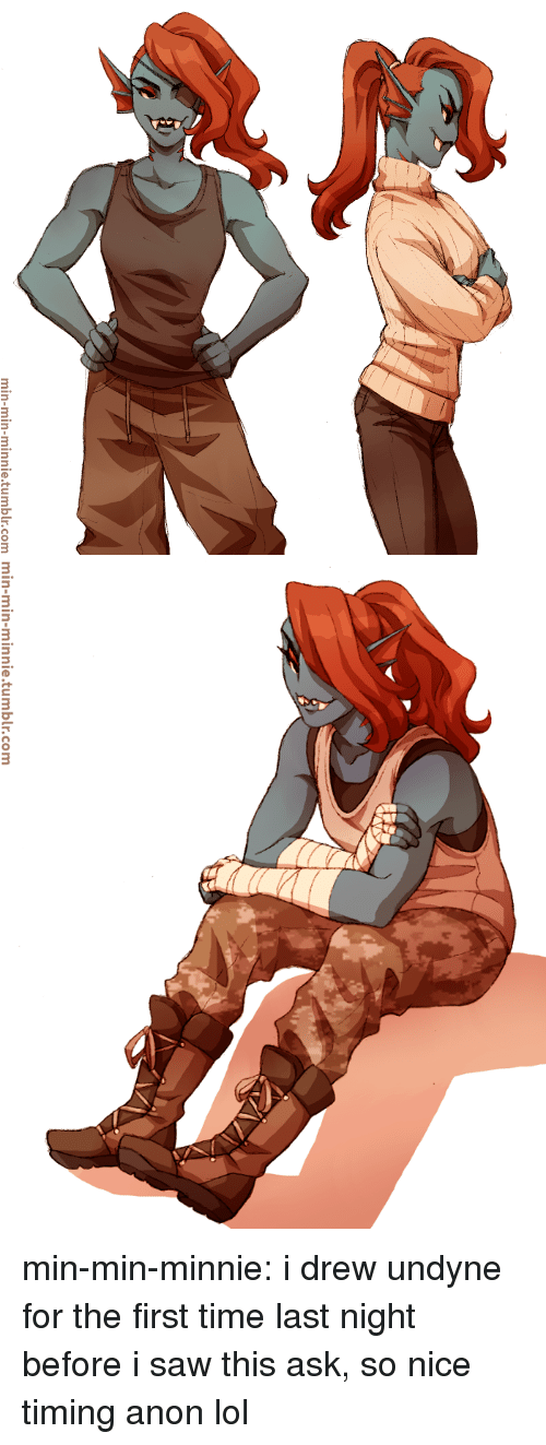 Lol, Saw, and Target: min-min-minnie.tumblr.com   min-min-minnie.tumblr.com min-min-minnie:  i drew undyne for the first time last night before i saw this ask, so nice timing anon lol